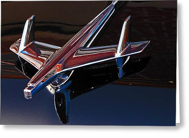 Muscle Greeting Cards - Chevy Hood Ornament Greeting Card by Gary Adkins