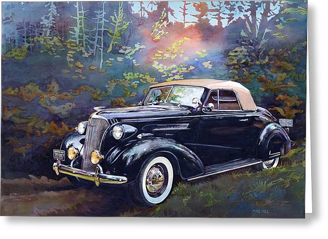Chevy In The Woods Greeting Card by Mike Hill