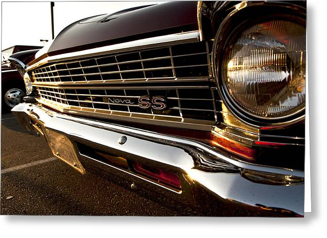 Ss Greeting Cards - Chevy Nova SS Greeting Card by Cale Best