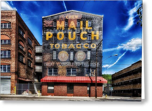 Chewing Tobacco Greeting Cards - Chew Mail Pouch Tobacco - Warehouse Wheeling West Virginia Greeting Card by Mountain Dreams