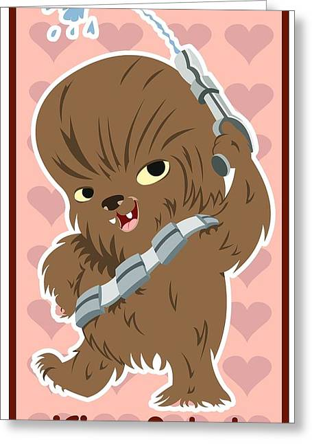 Flash Greeting Cards - Chewaka Greeting Card by Javier Bernardino