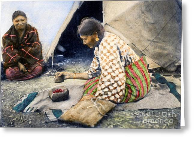 1890s Greeting Cards - CHEYENNE WOMAN, 1890s Greeting Card by Granger