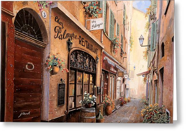 Nice Greeting Cards - Chez Palmyre Greeting Card by Guido Borelli