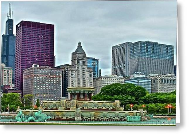 Chi Town Pano Greeting Card by Frozen in Time Fine Art Photography