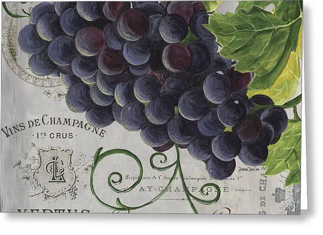 Vins De Champagne 2 Greeting Card by Debbie DeWitt