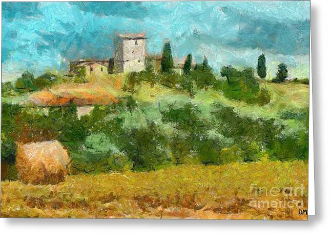Hay Bales Greeting Cards - Chianti Summer Greeting Card by Dragica  Micki Fortuna