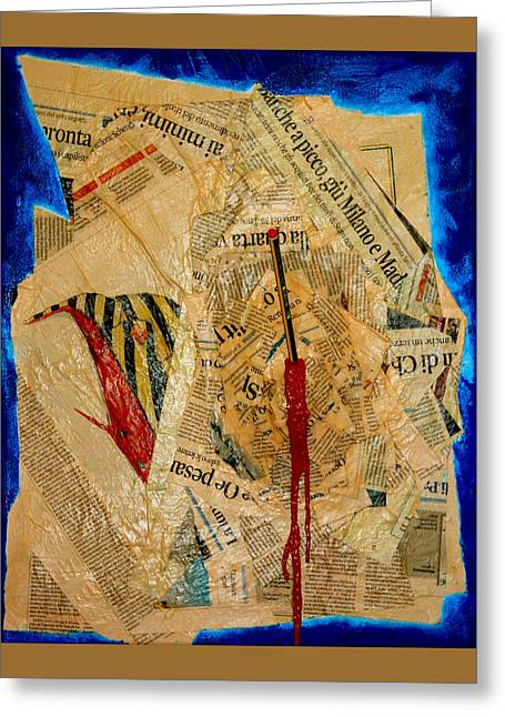 Terrorism Mixed Media Greeting Cards - Chiarlie Greeting Card by Federico Biancotti