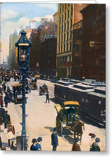 Streetlight Greeting Cards - Chicago, 1905 Greeting Card by Granger