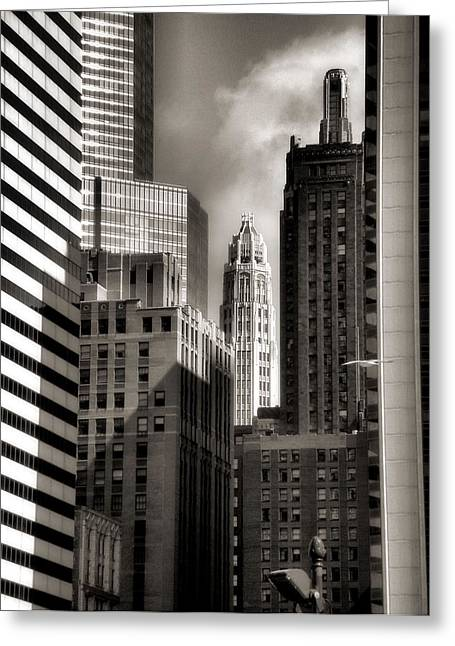 Ely Greeting Cards - Chicago Architecture - 13 Greeting Card by Ely Arsha