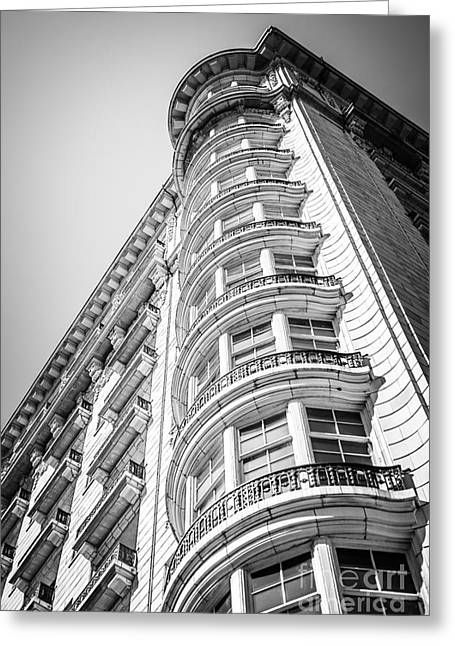 Chicago Architecture Black And White Photo Greeting Card by Paul Velgos