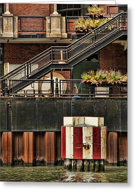 Errosion Greeting Cards - Chicago Architecture Detail Greeting Card by Tom Biegalski