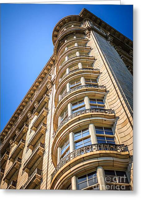 Chicago Architecture Of An Old Stone Building Greeting Card by Paul Velgos