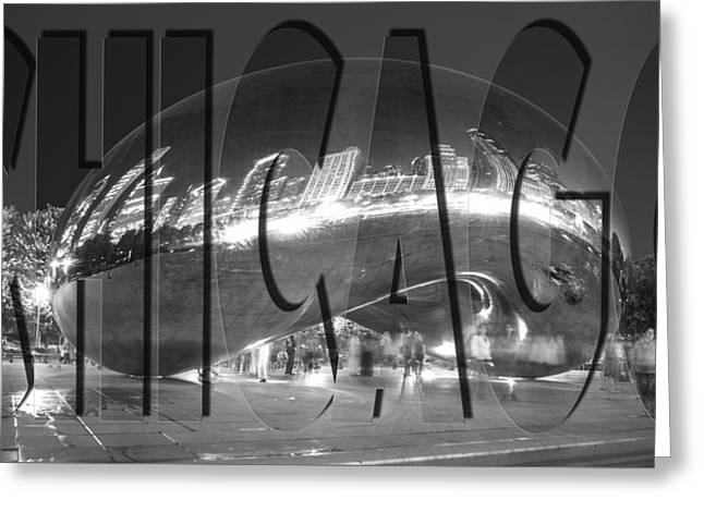 The Bean Greeting Cards - Chicago Bean Greeting Card by John McGraw