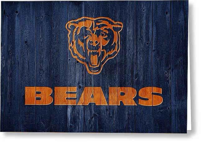 Illinois Barns Greeting Cards - Chicago Bears Barn Door Greeting Card by Dan Sproul