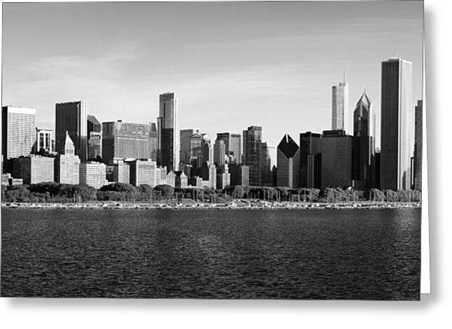 Donald Greeting Cards - Chicago Black and White Greeting Card by Donald Schwartz