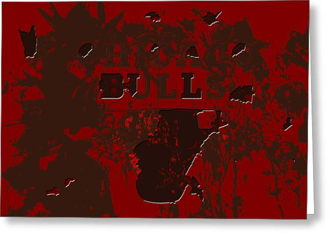 Chicago Bulls 1b Greeting Card by Brian Reaves