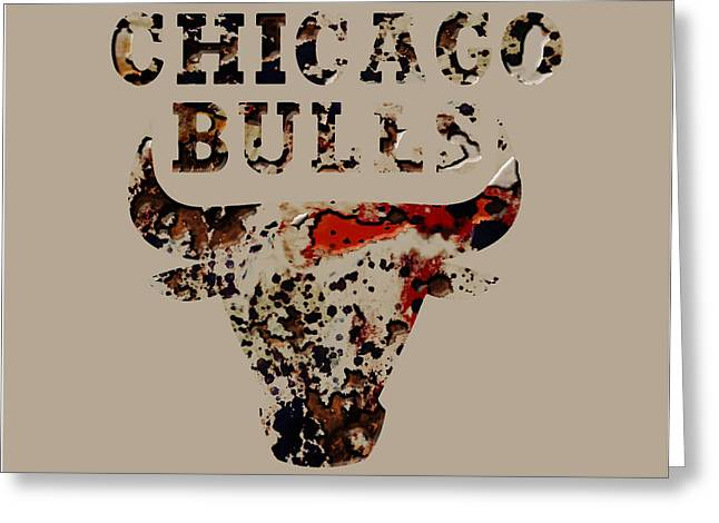 Chicago Bulls Mixed Media Greeting Cards - Chicago Bulls 23b Greeting Card by Brian Reaves