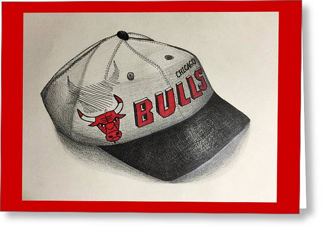 Chicago Bulls Drawings Greeting Cards - Chicago Bulls Greeting Card by Jacyca Abrams
