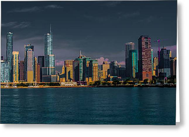 Chicago Cityscape Greeting Card by Jim DeLillo