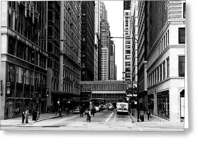 Artist Photographs Greeting Cards - Chicago Crossing Greeting Card by John Rizzuto