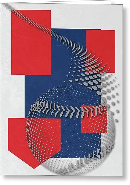 Chicago Cubs Art Greeting Card by Joe Hamilton
