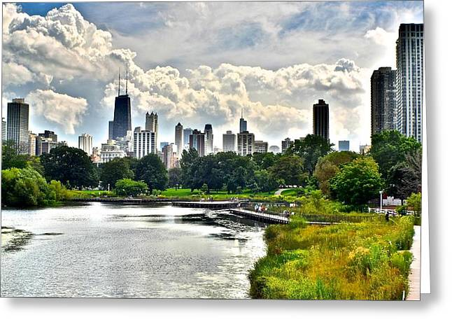 Theater Greeting Cards - Chicago from Lincoln Park Greeting Card by Frozen in Time Fine Art Photography