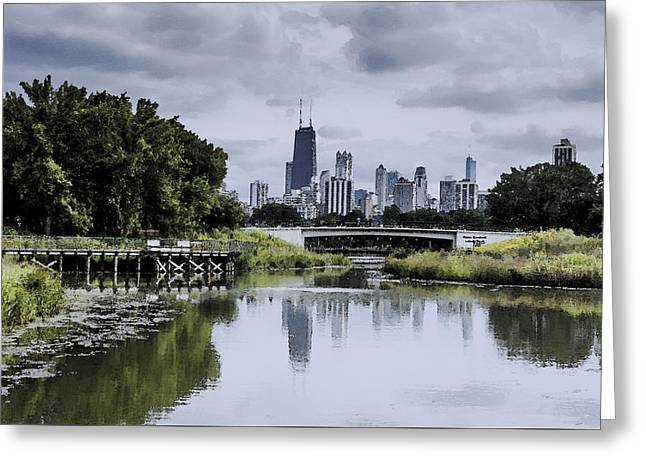 Lincoln Park Lagoon Greeting Cards - Chicago - From Lincoln Park Zoo Lagoon Greeting Card by Greg Thiemeyer