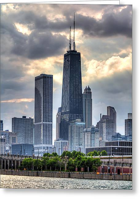 Chicago From The Pier Greeting Card by Joshua Ball