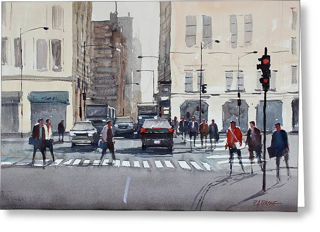 Crosswalk Greeting Cards - Chicago Impressions Greeting Card by Ryan Radke