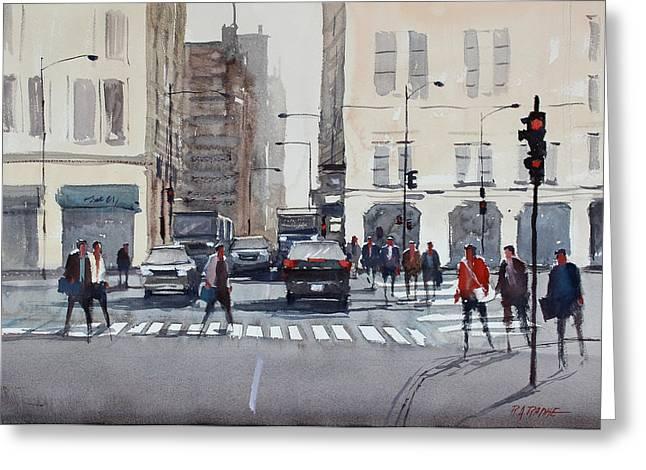 Crosswalk Greeting Cards - Chicago Impressions Greeting Card by Ryan Radke