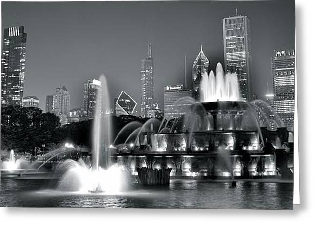 The Bean Greeting Cards - Chicago in Black and White Greeting Card by Frozen in Time Fine Art Photography