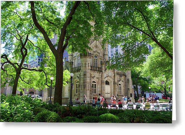 Chicago Jane Byrne Park In June Greeting Card by Thomas Woolworth