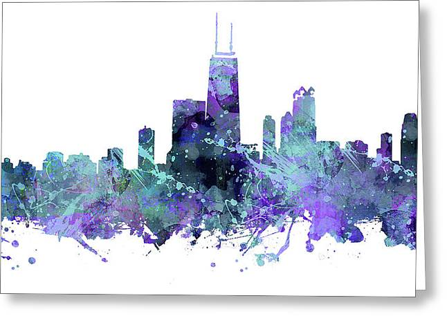 Windy City Mixed Media Greeting Cards - Chicago Greeting Card by JW Digital Art