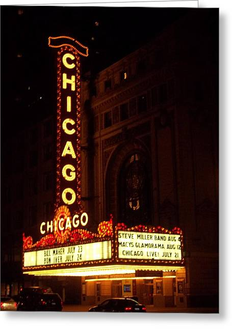 Brianna Greeting Cards - Chicago Lights Greeting Card by Brianna Thompson