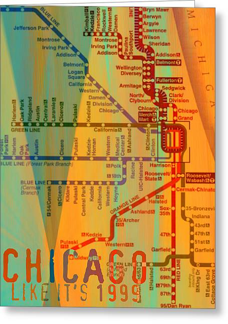 Chicago Like It's 1999 Greeting Card by Brandi Fitzgerald