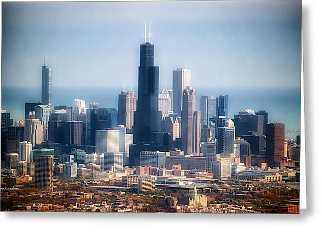Chicago Looking East 02 Greeting Card by Thomas Woolworth