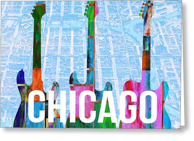 Chicago Music Scene Greeting Card by Edward Fielding