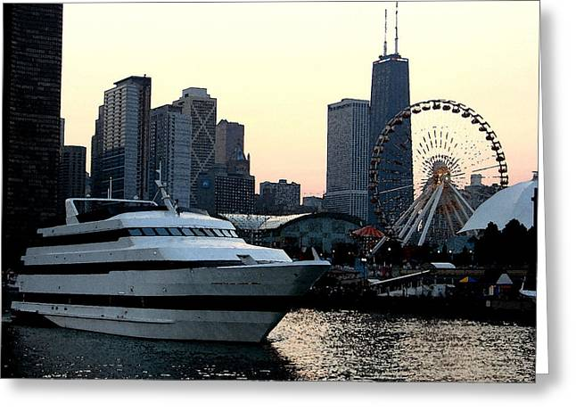 Chicago Navy Pier Greeting Card by Glory Fraulein Wolfe