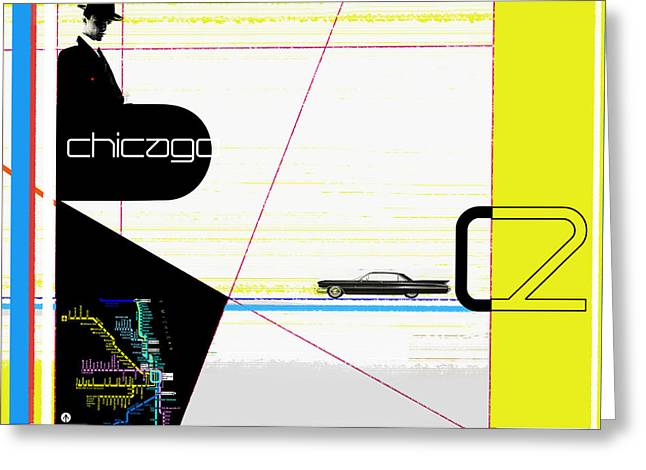 Fashion Digital Art Greeting Cards - Chicago Greeting Card by Naxart Studio