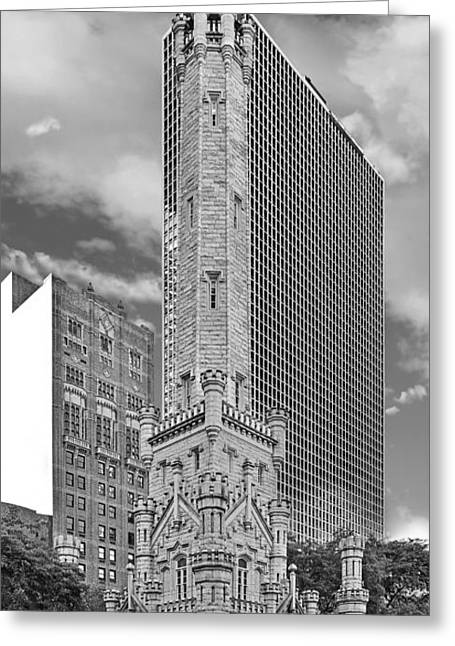 Historic Places Greeting Cards - Chicago - Old Water Tower Greeting Card by Christine Till