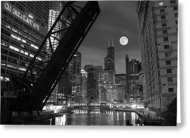Windy Greeting Cards - Chicago Pride of Illinois Greeting Card by Frozen in Time Fine Art Photography
