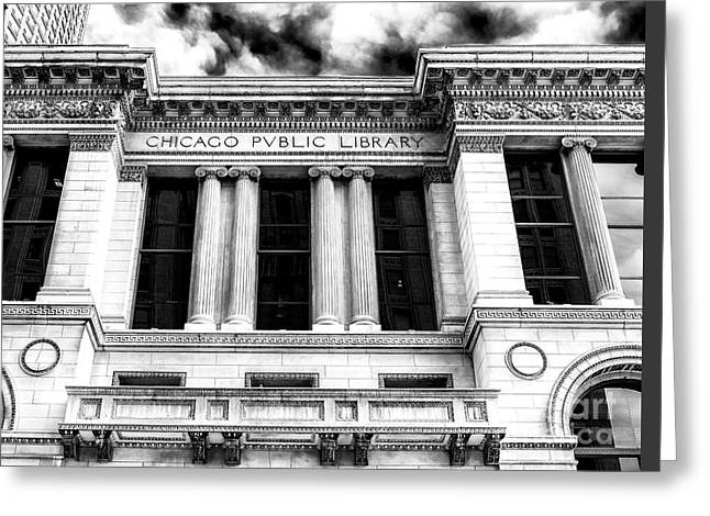 Artist Photographs Greeting Cards - Chicago Public Library Greeting Card by John Rizzuto