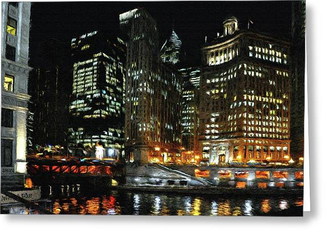 Illinois Greeting Cards - Chicago River Crossing Greeting Card by Jeff Kolker