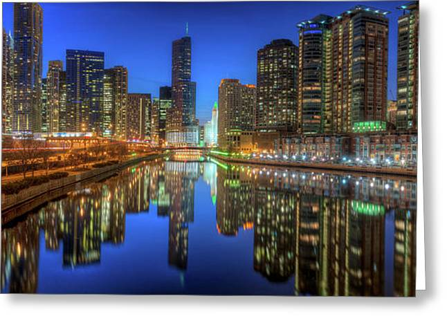 Chicago River East Greeting Card by Steve Gadomski