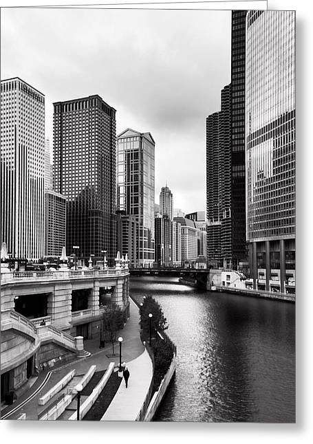 Waterways Greeting Cards - Chicago Riverview Greeting Card by Peter Chilelli