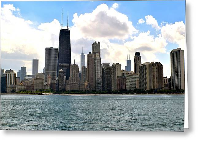 123 Greeting Cards - Chicago Shoreline Greeting Card by Frozen in Time Fine Art Photography