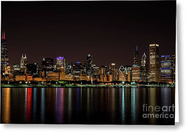 Andrea Silies Greeting Cards - Chicago Skyline Greeting Card by Andrea Silies