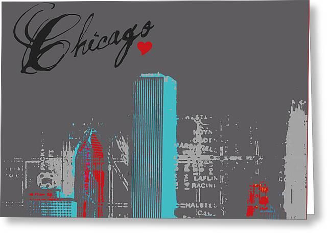 Chicago Skyline Greeting Card by Brandi Fitzgerald