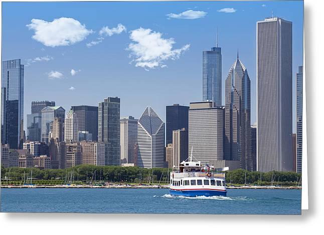Chicago Skyline Greeting Card by Melanie Viola