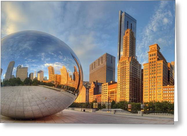 Chicago Skyline Greeting Card by Twenty Two North Photography